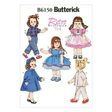 """Butterick Sewing Pattern 6150 18"""" Doll Clothes Dress Pyjamas Top & Trousers"""