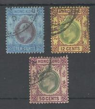 HONG KONG BET.SG67-71 EVII FINE USED TRIO CAT £67