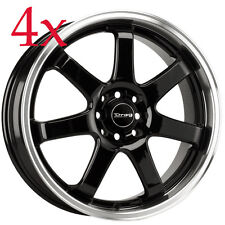 Drag Wheels DR-35 17x7.5 5x100 5x114 Black Rims For Impreza Legacy Talon Eclipse