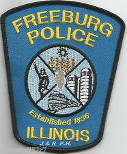 "Freeburg - 1836, IL  (3.75"" x 4.5"" size)   shoulder police patch (fire)"