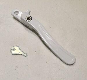 New locking LH Nordic Cockspur Window Fastener handle Jeld Wen John Carr White