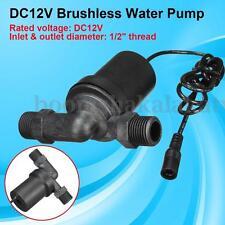 "Solar Power DC 12V Hot Water Circulation Pump Brushless Motor 1/2"" BSP 650L / H"