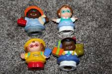Fisher Price Little People Lot of 4 Boy Girl Figures Toys Set Dad Construction