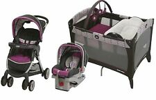 Baby Stroller, Car Seat, Nursery Playard, Travel System, Easy Fast Fold
