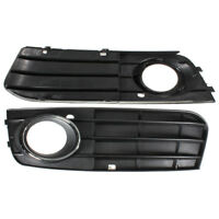 Pair Front Fog Light Bumper Grille Grill Left Right Non-sline For Audi A4 B8 A4L