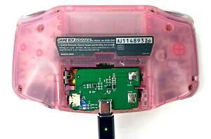Nintendo Gameboy Advance Rechargeable Battery 1500mAh Li-ion USB-C Mod Game Boy