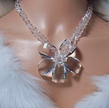 Stunning Butler & Wilson Clear Crystal Floral Necklace