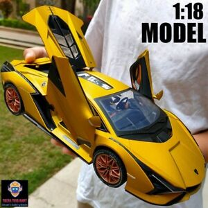 1:18 For Lamborghini Sian Sport Car Alloy Collection Model Racing Children Gifts