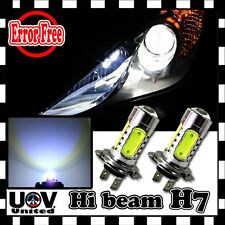Headlight Bulbs High 2 x H7 6000K COB LED Beam CREE Error Free Canbus Decoder
