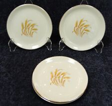 "Homer Laughlin Golden Wheat Bread Plates 6"" FOUR Plates EXCELLENT!"