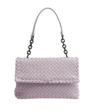 Bottega Veneta Purple Intrecciato Leather Shoulder Bag