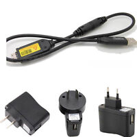 USB AC/DC Battery Power Charger Adapter cable for Samsung M100 M110 camera_xa
