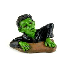 Green Zombie climbing out 2.25 inch MI 50665 Miniature Fairy Garden