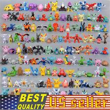 USA 144Pcs Pokemon Action Figures Mini Series PVC Toy Gift No Repeat 2-3CM Lot