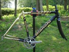 Bianchi 928 Carbon Road Race Bike Cycling Frame Forks & Campagnolo Chainset 52cm