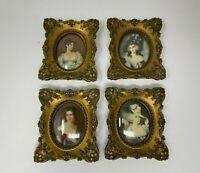 Vtg Cameo Creation Lot of 4 Picture Frames Ornate Victorian Elizabeth Paulin N37