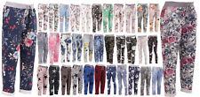 New Italian Ladies Elastic Waist Cotton Summer Trouser Jogger Size S M L XL