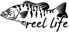 Reel Life Fishing Vinyl Cut Decal 20cm