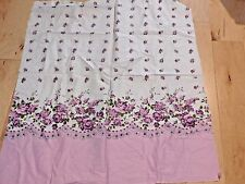 GORGEOUS PURPLE WHITE SHABBY  ROSES BORDER COTTON  QUILT FABRIC 30 x 35 WIDE ""