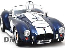 1965 Shelby Cobra 427 S/C Azul con Blanco Rayas 1:18 Shelby Collectibles SC121