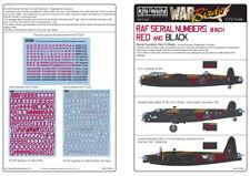 KITS-WORLD 1/72 RAF Série Numéros 20.3cm ROUGE ET NOIR 72028