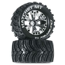 "NEW Duratrax Traxxas Stampede Hatchet MT 2.8 Mounted 1/2"" Offset Tires/Wheels..."