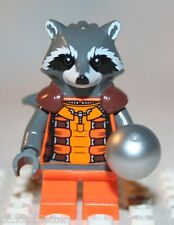 Lego ROCKET RACCOON MINIFIGURE from Super Heroes Knowhere Escape Mission (76020)