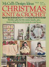 McCall's Design Ideas - Christmas Knit & Crochet magazine - 1986 (B)