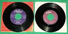 VTG 45s RECORD CHEERS BLACK DENIM TROUSERS MOTORCYCLE BOOTS ALASKA + ANNE MURRAY
