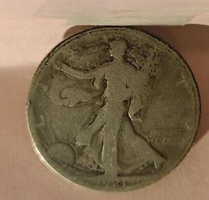 1921 D (Denver) US American Silver The Key Walking Liberty Half Dollar