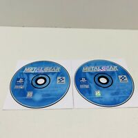 Metal Gear Solid (Sony Playstation 1) PS1 Game Discs Only Black Label TESTED