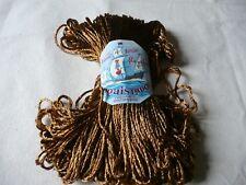 1 écheveau paille perlée marron belle étiquette