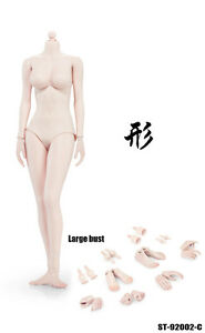 XING 1/6 Scale Pale Skin Female Body W/ Small Bust 92002C