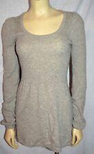 C&C California Sweater Size Medium  100% Cashmere tunic SHORT dress GRAY SUPER