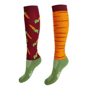 Elico Carrot Ladies Riding Socks Equestrian One Size 38-42  FREE DELIVERY