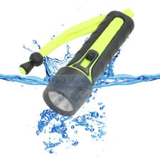 LED Diving Flashlight Underwater Torch Lamp Outdoor Camping Light for Snorkelers