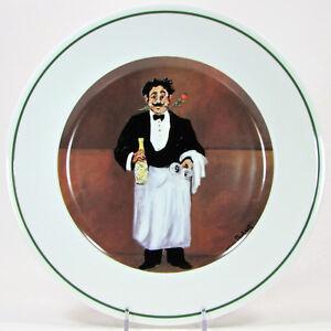 """Williams-Sonoma SOMMELIER PERRIER-JOUET BRUT 11"""" Dinner Plate Guy Buffet Japan"""