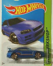 1/64 Hot wheels Blue Gold Rims  Nissan Skyline GT-R (R34)