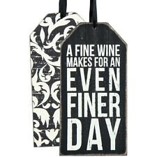 """Primitives by Kathy"" Wine Bottle Tag - Finer Day - #25151"