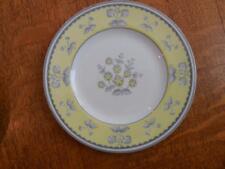 """Wedgwood Yellow Pimpernel bone china 6"""" bread plate grey trim W3865"""