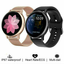 Women ECG Smart Watch IP68 Waterproof Phone Mate For iphone IOS Android Samsung