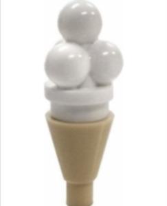 LEGO: X 15 Tan Ice Cream Cone & White Ice Cream scoops ( 6254 / 11610 ). New.