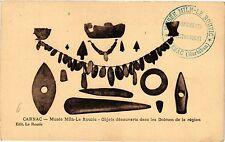 CPA  Carnac - Musée Miln-Le Rouzic - Objets découverts dans les Dolmen..(205485)