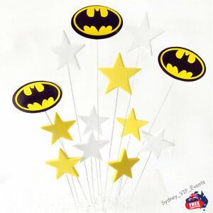 BATMAN CAKE TOPPER SET 13PCS SUPERHEROS BOYS BIRTHDAY PARTY CAKE DECORATION