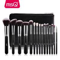 Pro MSQ 15PCs Makeup Brushes Set Powder Foundation Eye Shadow Make Up Brush Tool
