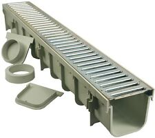 Galvanized Steel Pro Series Channel Drain Kit Removes Outdoor Areas Excess Water