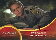The Flash Season 2 Red Scarlet Speeder Stamped Parallel Base Card #7