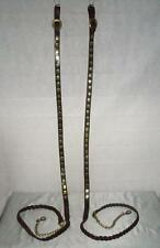 Pair Of Antique Leather And Brass Shire Lead Reins Made By E.G Taylor