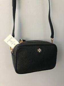 NWT Tory Burch Blake Mini Camera Bag Crossbody Purse Black $278