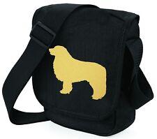 More details for leonberger bag shoulder bags metallic gold dog on black bags mothers day gift